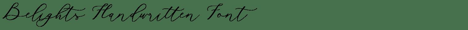 Belights Handwritten Font