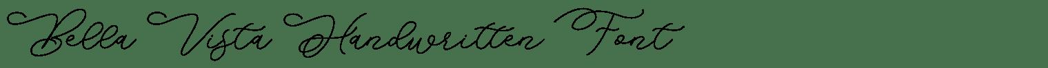 Bella Vista Handwritten Font