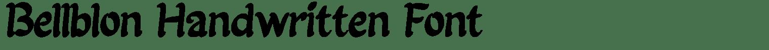 Bellblon Handwritten Font