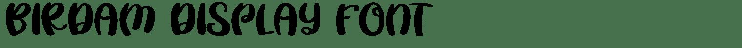 Birdam Display Font