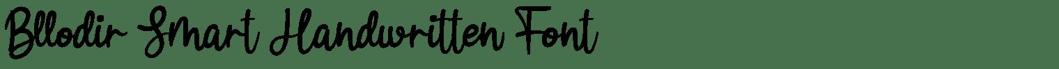 Bllodir Smart Handwritten Font