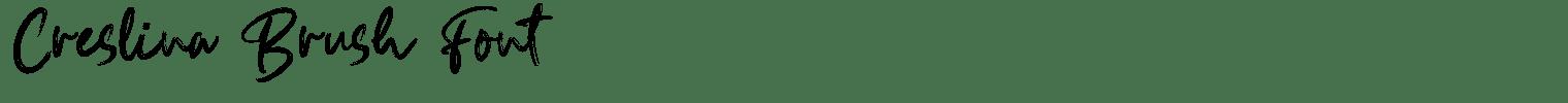 Creslina Brush Font