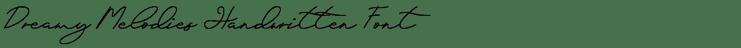 Dreamy Melodies Handwritten Font