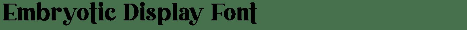 Embryotic Display Font