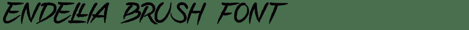 ENDELLIA Brush Font