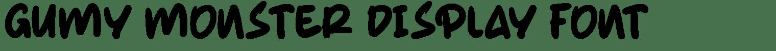 Gumy Monster Display Font