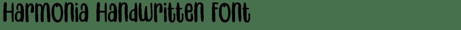 Harmonia Handwritten Font