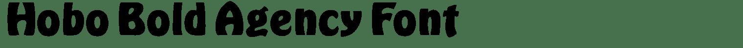 Hobo Bold Agency Font