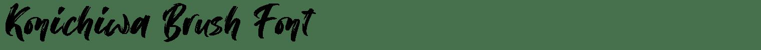 Konichiwa Brush Font