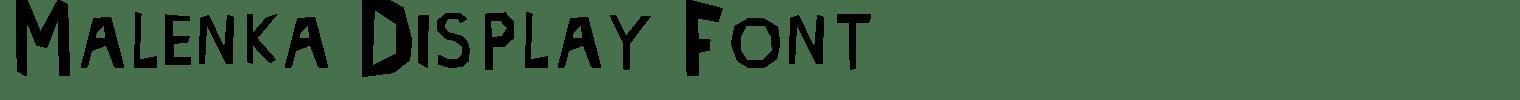Malenka Display Font