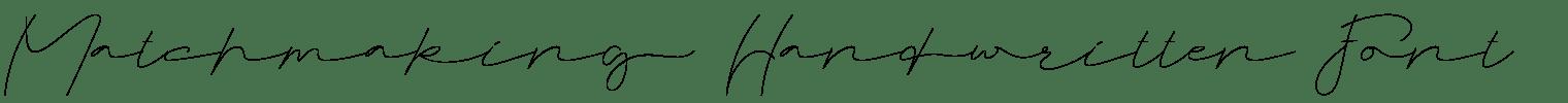Matchmaking Handwritten Font