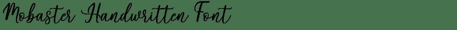 Mobaster Handwritten Font