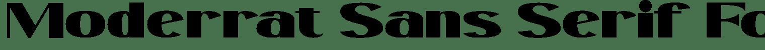 Moderrat Sans Serif Font