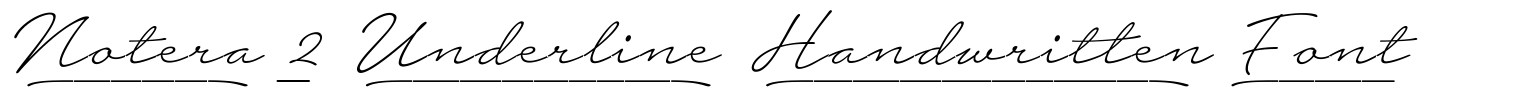 Notera 2 Underline Handwritten Font