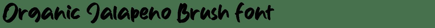 Organic Jalapeno Brush Font