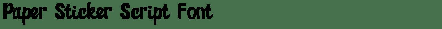 Paper Sticker Script Font