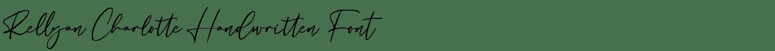 Rellyan Charlotte Handwritten Font