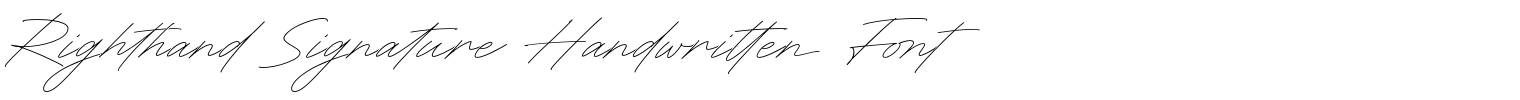Righthand Signature Handwritten Font