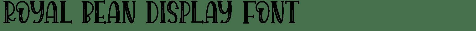 Royal Bean Display Font