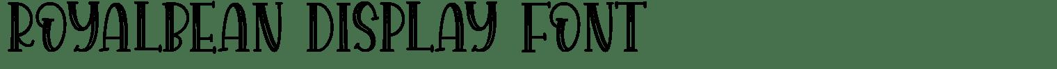 ROYALBEAN Display Font