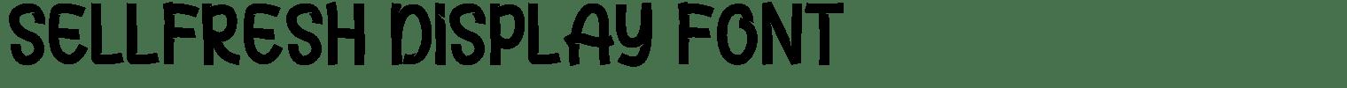 Sellfresh Display Font
