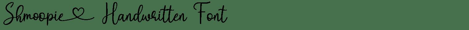 Shmoopie Handwritten Font