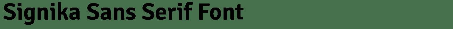Signika Sans Serif Font