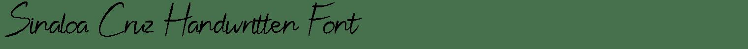 Sinaloa Cruz Handwritten Font