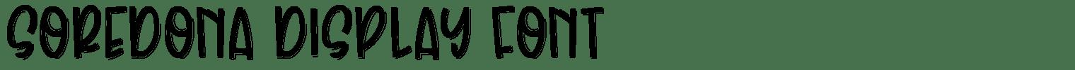 Soredona Display Font