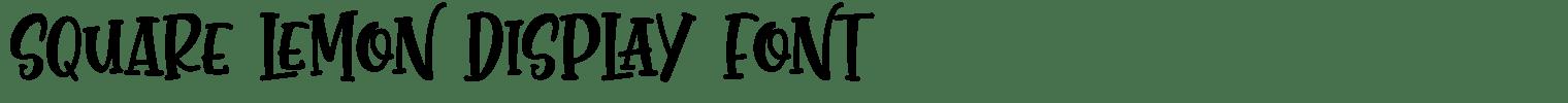 SQUARE LEMON DISPLAY FONT