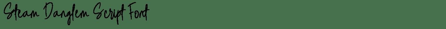 Steam Danglem Script Font