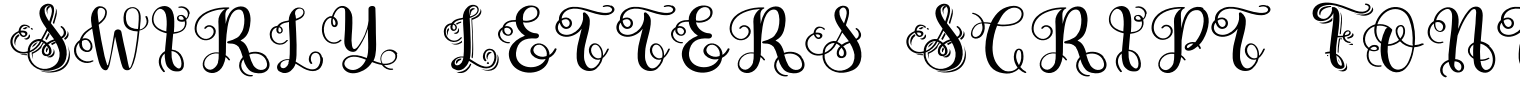 Swirly Letters Script Font