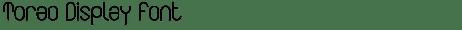 Torao Display Font