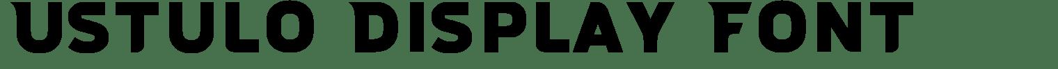Ustulo Display Font