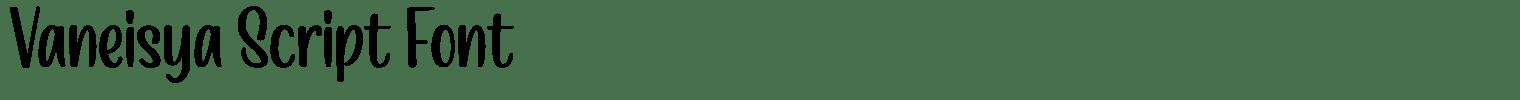 Vaneisya Script Font