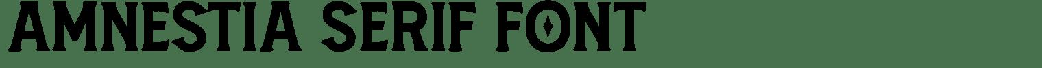 Amnestia Serif Font