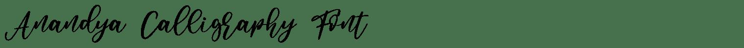 Anandya Calligraphy Font