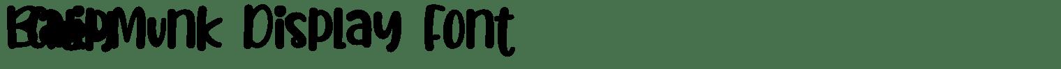 Baby Chipmunk Display Font