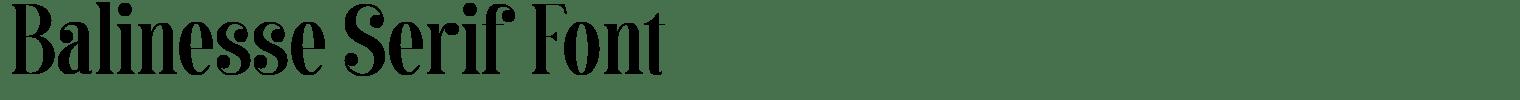 Balinesse Serif Font