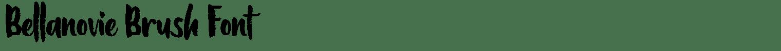 Bellanovie Brush Font