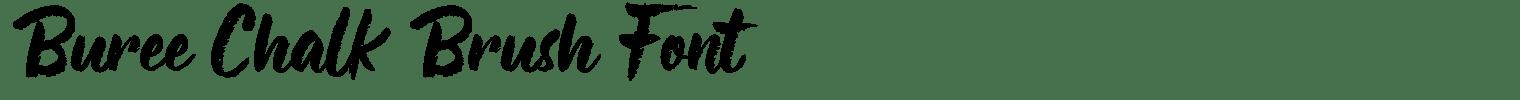 Buree Chalk Brush Font