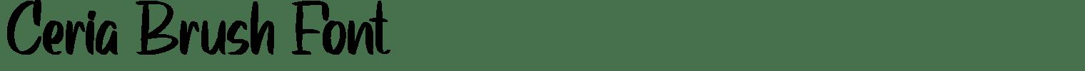 Ceria Brush Font