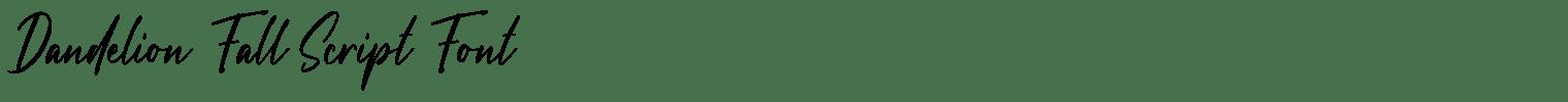 Dandelion Fall Script Font