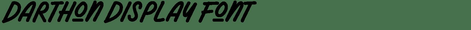 Darthon Display Font