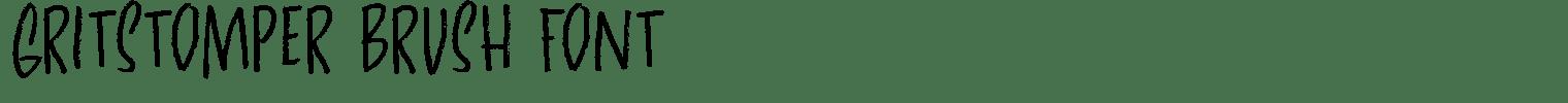 Gritstomper Brush Font