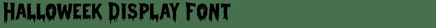 Halloweek Display Font