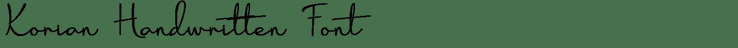 Korian Handwritten Font