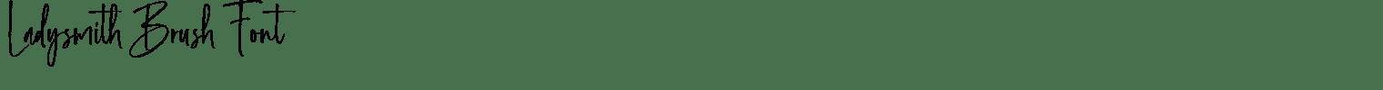 Ladysmith Brush Font