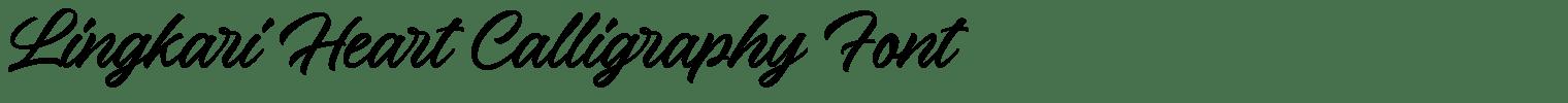 Lingkari Heart Calligraphy Font