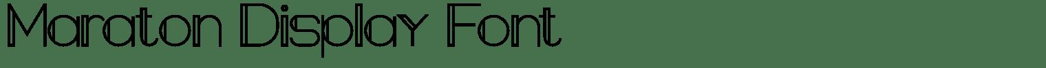 Maraton Display Font